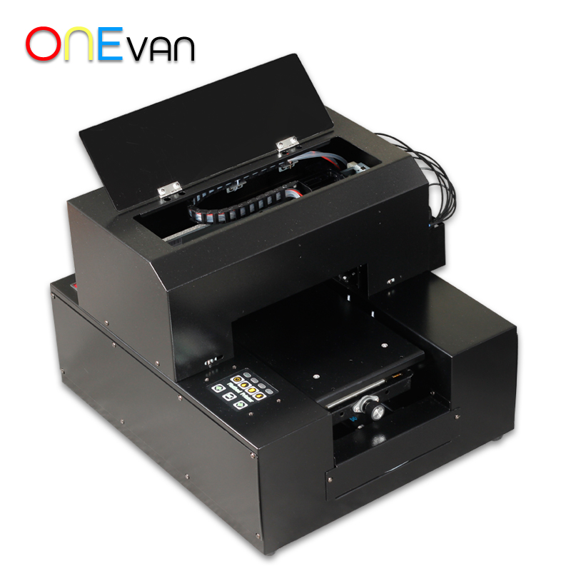 free shipping.A4 UV Printer UV Flatbed Printer for Phone Case, metal,pvc card,leather,phone case printer with UV ink - 2