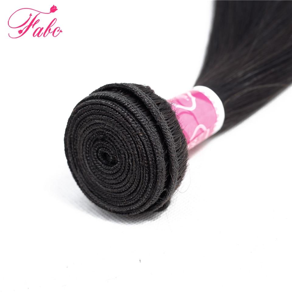 FABC  Straight Hair  Bundles 8-28 inches 100%  s Non-remy Double Weft 1/3/4Bundles Nature Color 4