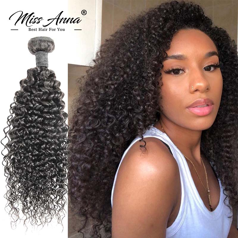 8-34 36 38 Inch Brazilian Human Hair Bundles Kinky Curly Hair Weave Natural Color Remy Human Hair Extension