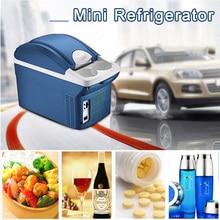 8L Mini Portable Car Fridge Travel Refrigerator Dual Use Heat Cooler Warmer for Auto Car Home Office Outdoor Picnic Travel