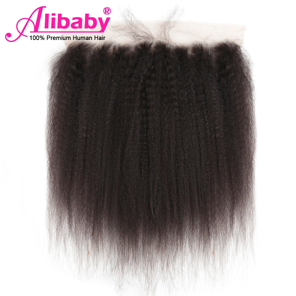 Alibaby Kinky Straight Hair Closure 8'-22