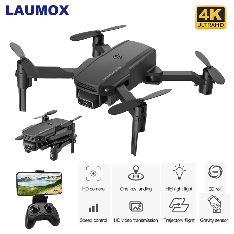 LAUMOX KF611 Mini Drone 4k HD Camera 1080P WiFi FPV Camera Flight time 10 minutes Quadcopter Altitude Hold Foldable RC Dron S66