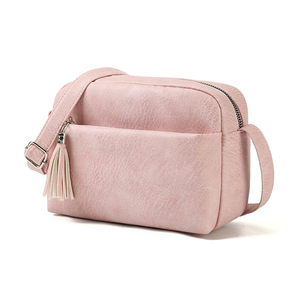 Image 3 - Qianxilu 2019 New Womens Small Shoulder Tassel Bags Messenger Bag Ladies PU Leather Handbag Purse Female Zipper Crossbody Bag