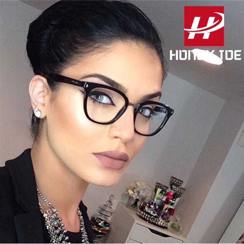 Womens Sexy Vintage UV400 Spectacle Square Glasses Frame Computer Gaming Clear Lens Anti-UV Anti Blue Light Rivet Eyeglasses