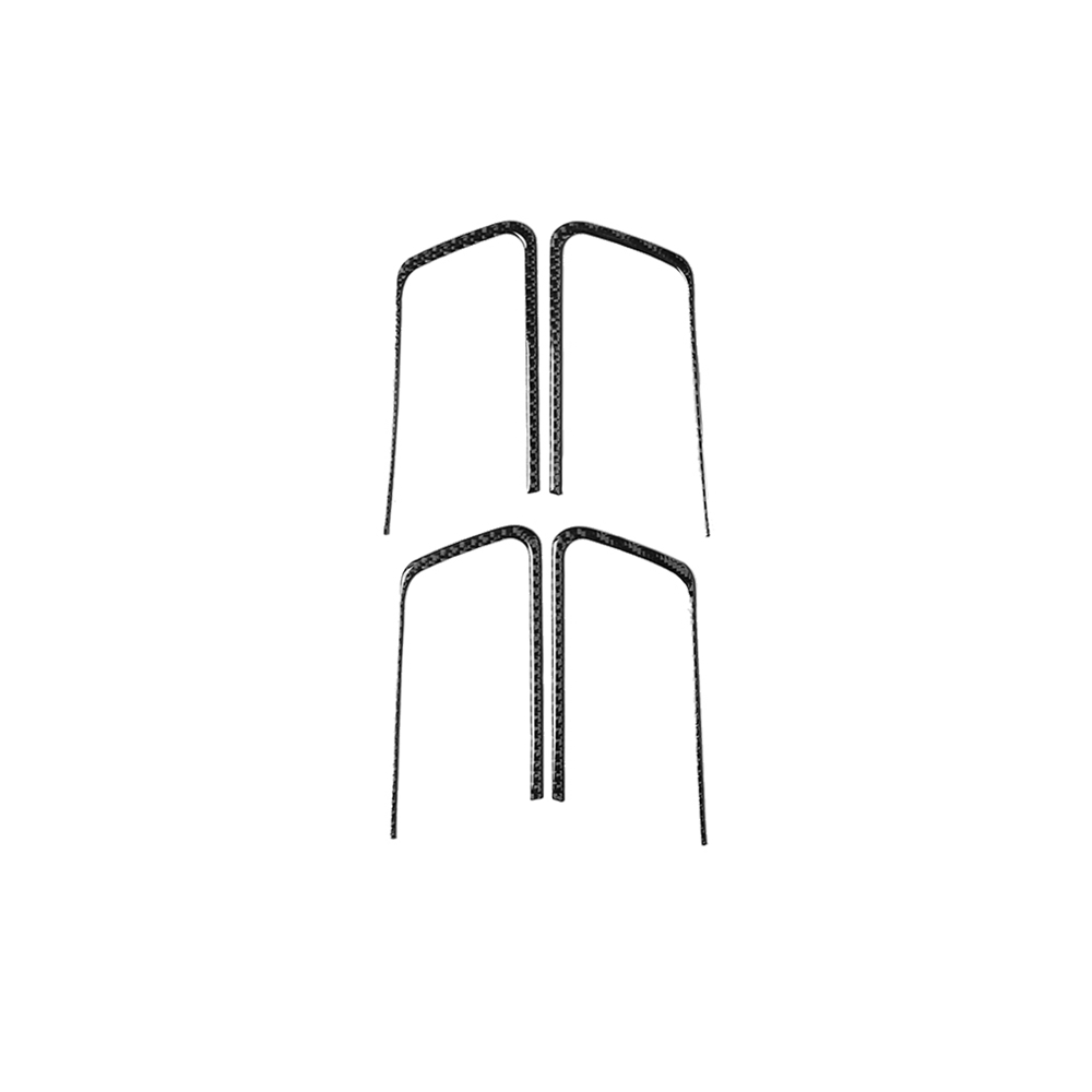 Купить с кэшбэком Car Decoration Door Handle Rear Air Vent Outlet Frame Car Sticker Cover Trim Stickers For Toyota Land Cruiser Prado Carbon Fiber