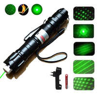 Hunting High Powerful 1000m 5MW Green Laser Pointer Flashlight Military Adjustable Focus Lazer sight with 18650 Battery +Charger
