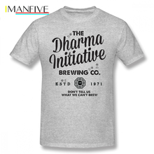 Dharma T Shirt LOST Dharma Initiative Brewing Company T-Shirt Streetwear Short Sleeve Tee Shirt Fun Plus size  Cotton Tshirt the dharma punks