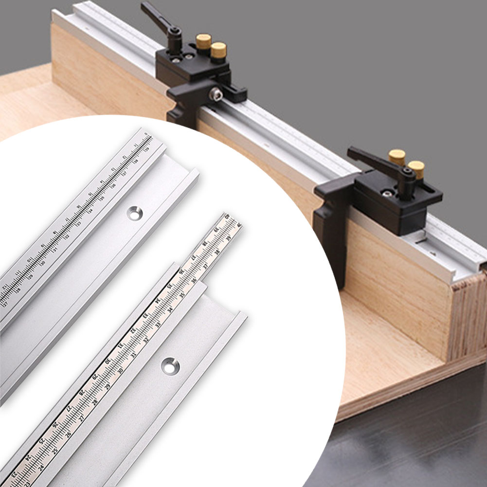 45 Type Slot Miter Ruler T Track Woodworking Tools Crafts Workbench Chute Table Saw Sturdy DIY Movable Scale Carpenter Gauge