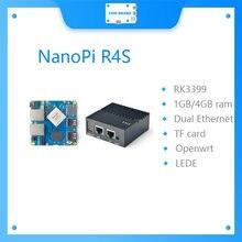 Sistema duplo v2ray ssr linux rockchip dos gateways rk3399 dos ethernet do apoio de friendlyelec nanopi r4s 1gb/4gb