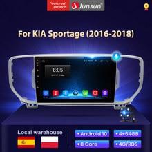 Junsun V1 4G + 64G Android 10 AI commande vocale autoradio android pour KIA Sportage KX5 4 2016 2017 2019 multimédia auto radio voiture avec bluetooth/carplay/autoradio gps/car play