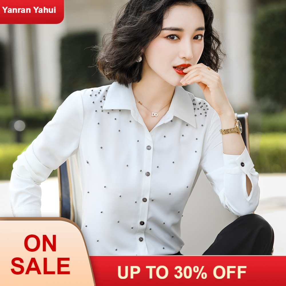 Womens Professional Shirt Fall New White Fashion Korean Long Sleeve Style