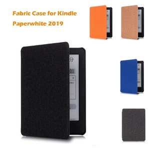 Case For Kindle Paperwhite 2019 Thinnest&Lightest Water-Safe Fabric Cover Magnetic attachment ensures cover is securely closed
