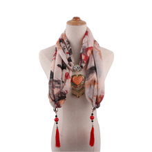 temperament lady shawl neck ornaments necklace national style scarf Mongolian clothing accessories 1836 pendant