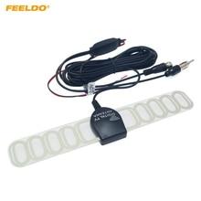 FEELDO автомобильный тв цифровой DVB-T 2в1 FM/радио антенна усилитель F разъем# FD-897