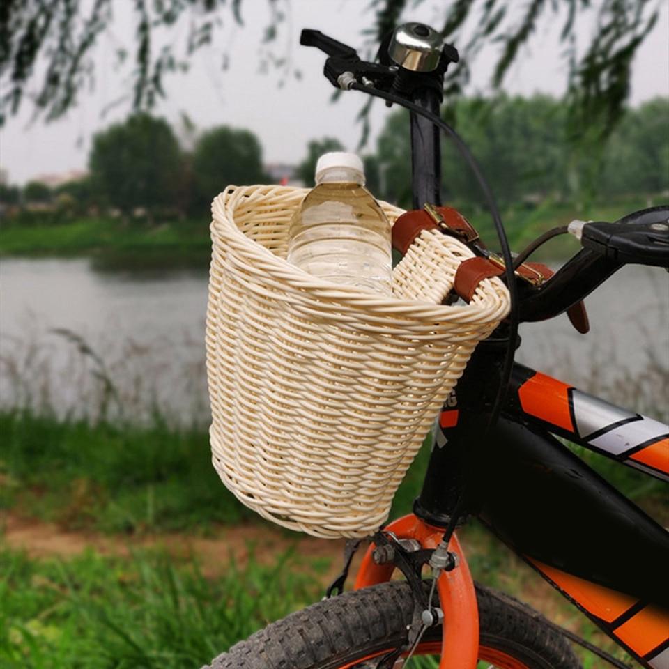 Childrens Bicycle Shopping Rattan Basket For Kids Boys Girls Bike Cycle