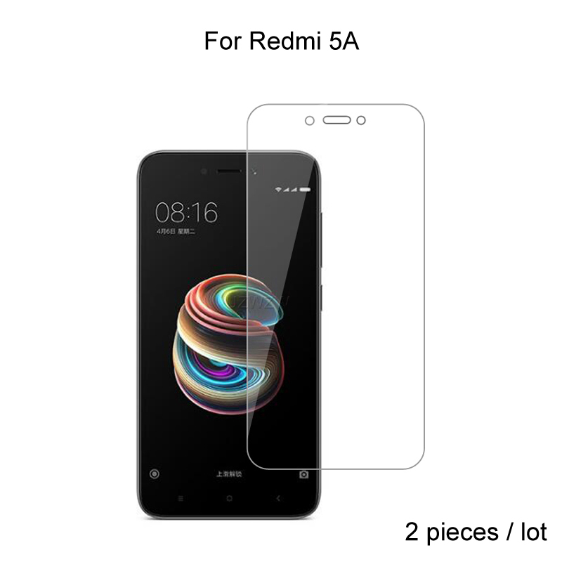 2pcs For Xiaomi Redmi 5A Premium 2.5D 0.26mm Tempered Glass Screen Protector For Xiaomi Redmi 5A Protective Glass