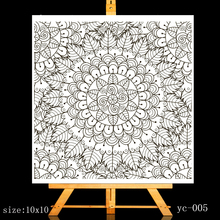 ZhuoAng Floral background Clear Stamps/Card Making Holiday decorations For  scrapbooking Transparent stamps 10*10cm