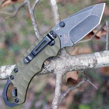 цена 8750 Hunting Fishing Folding 3 style Knife 8CR13M Blade Aluminum  Handle outdoor Camping Survival Tactical Knives EDC BBQ tool онлайн в 2017 году