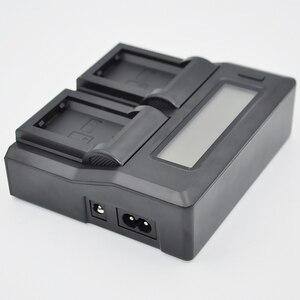 Image 4 - ホット3C Cameraバッテリー充電器デュアルチャネル液晶表示のクイックソニーNp Fp70 Fp90 Np Fv50 Np Fv60 Np Fv70 np fv