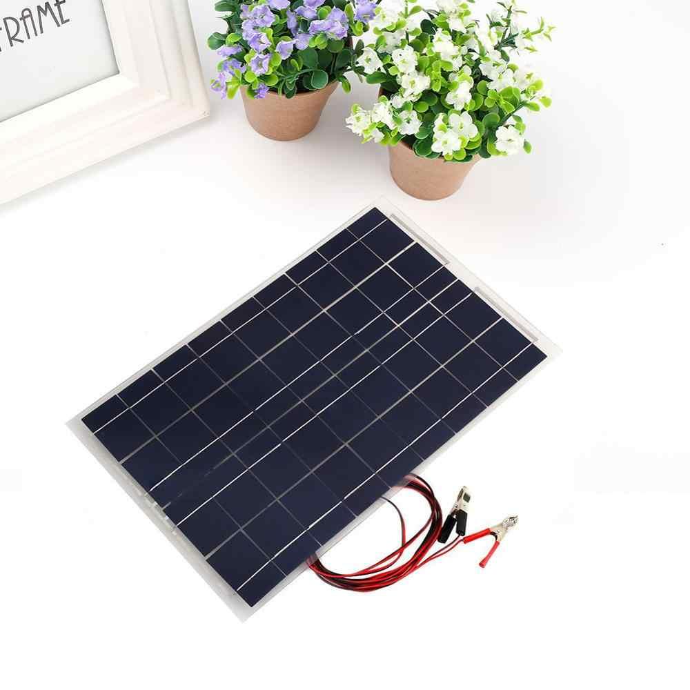 30W 18V العالمي لوحة طاقة شمسية ل سيارة للتخييم مع ضوء السلكية ل في الهواء الطلق الهاتف المحمول ألواح خلايا شمسية و شاحن بالطاقة الشمسية