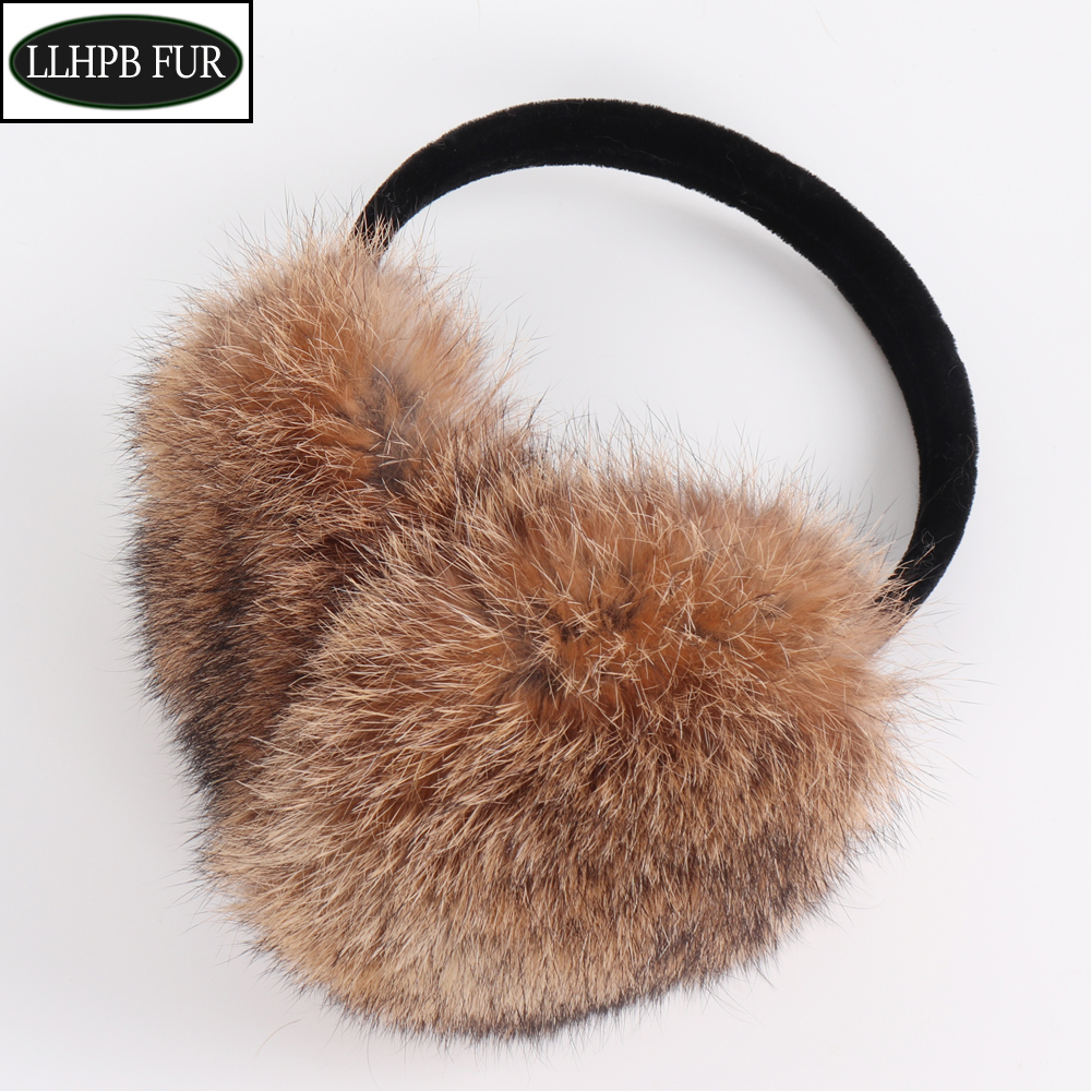 New Arrival Women Winter Real Rabbit Fur Earmuffs Girls Warm Plush Rabbit Fur Earflaps Thermal Lady Natural Rabbit Fur Earmuff