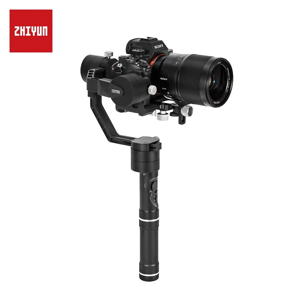 ZHIYUN grúa oficial V2 3 ejes cardán de mano estabilizador de 360 grados para cámara DSLR para Sony A7/Panasonic LUMIX/Nikon/Canon M