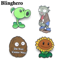 CA363 Plants and Zombies Funny Enamel Pins and Brooches for Women Men Lapel Pin Backpack Bags Badge Collection Gifts 1PCS