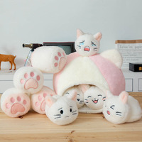 plush cat toy creative small cat claw cat nest plush toy stuffed animal soft doll kids toys birthday gift for children