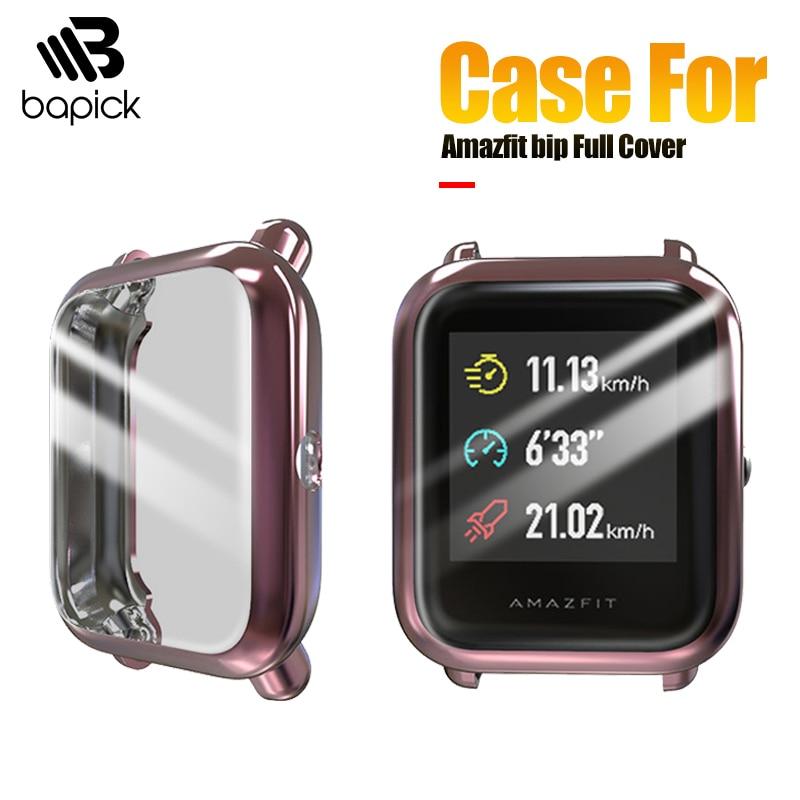 BAPICK Full Cover Soft TPU Bumper For Xiaomi Amazfit Bip Case Smart Watch Screen Protector For Amazfit Bip Lite Case Accessories