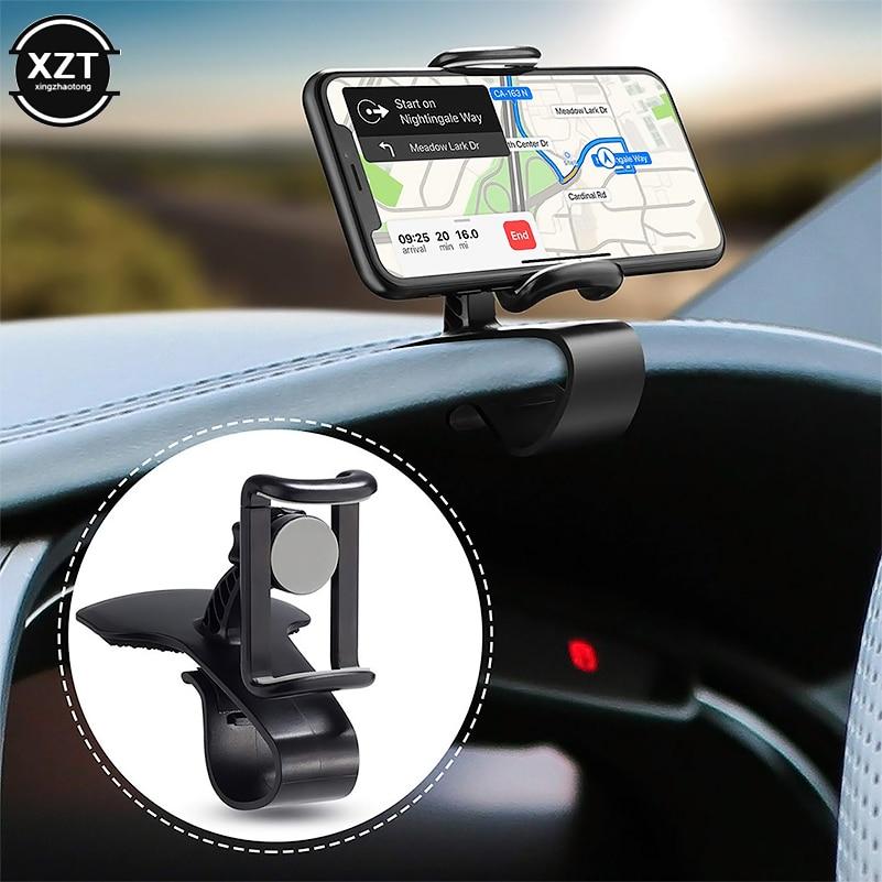 Dashboard Car Phone Holder 360 Degree Mobile Phone Stand Holder Grip In Car Universal Adjustable Cell Phone Holder Mount