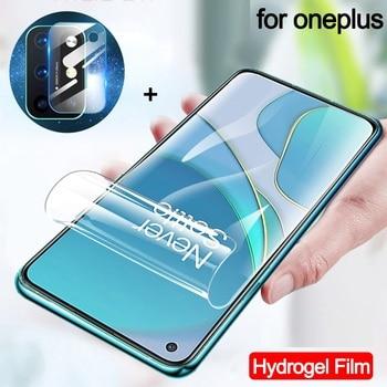 Pellicola Hydrogel + vetro della fotocamera per One Plus 8T pellicola salvaschermo One Plus 7T 8T Oneplus8 7pro hidrogel OnePlus Nord N100 N10 5G