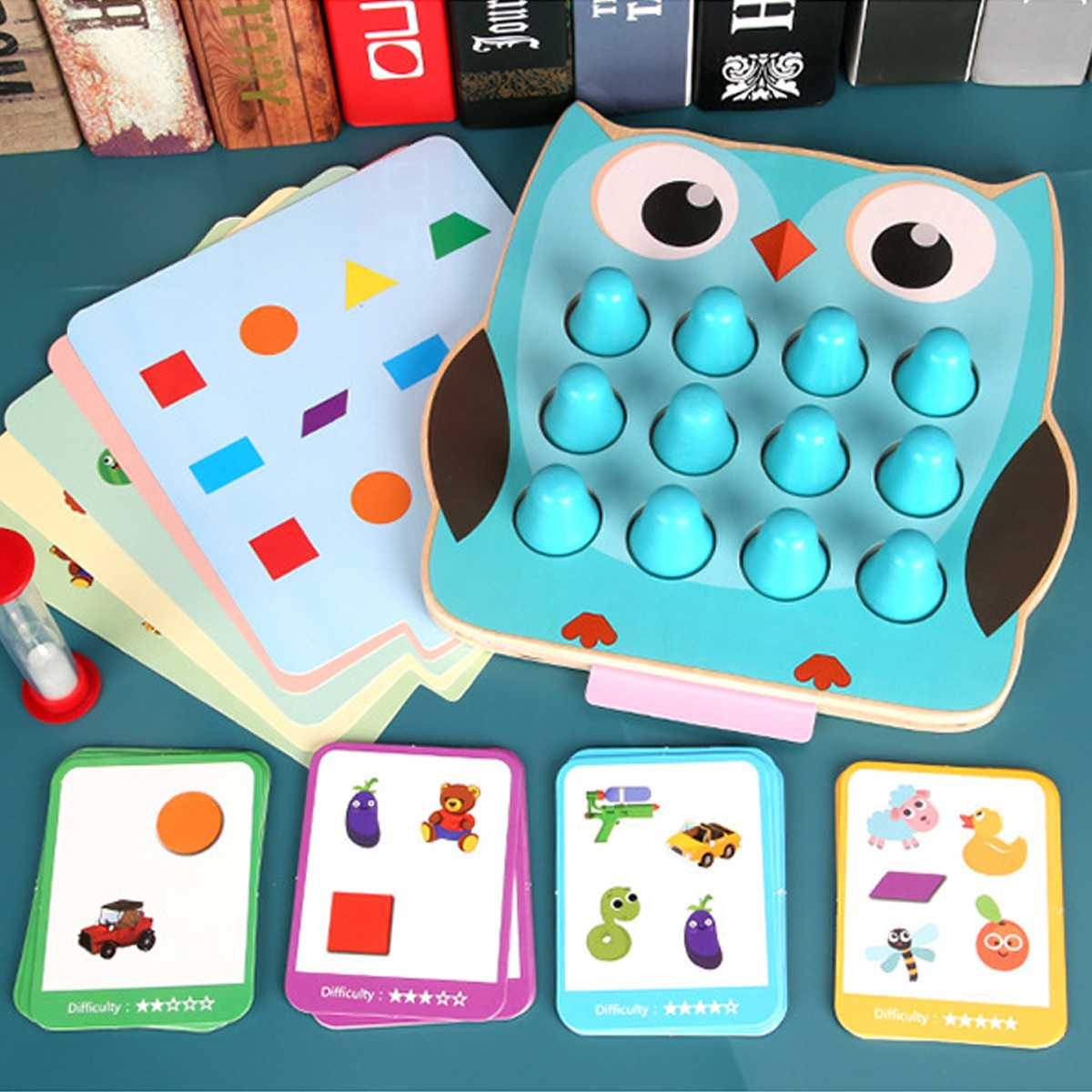 Kids party game Wooden Memory Match Stick Chess Game Fun Block Board Game Educational Color Cognitive Ability Toy for Children image