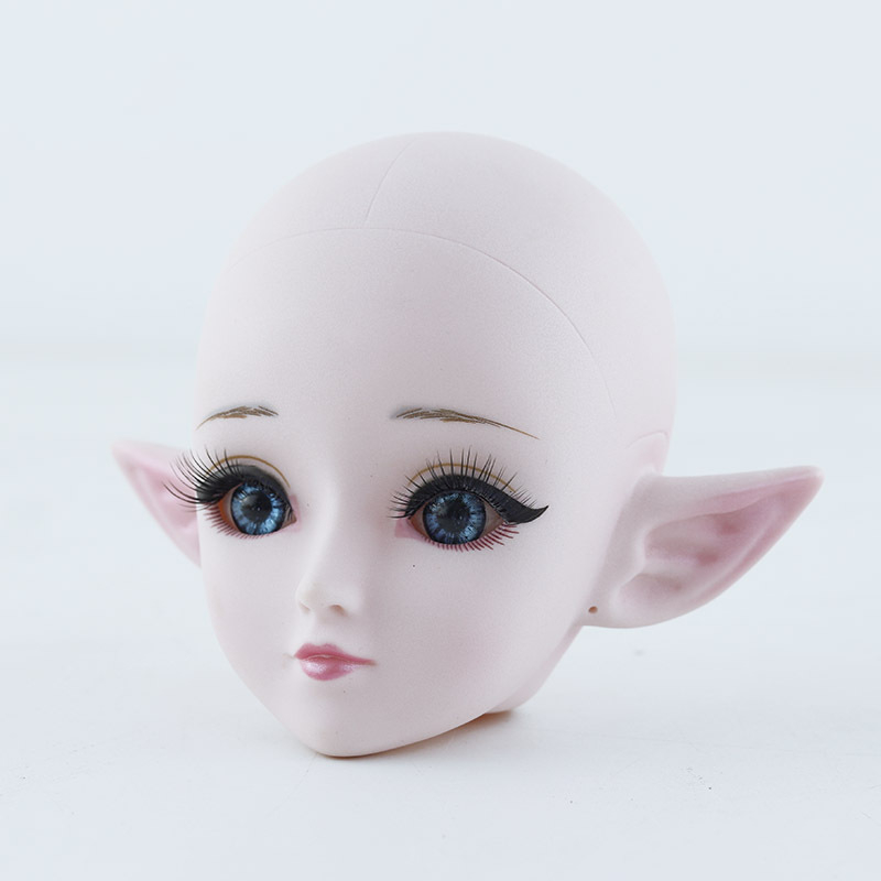 1/3 BJD Nude Doll Body Elf Make Up Bjd Doll Accessories 24 Ball Jointed Doll Blue /black Eyes 60cm DIY Kids Toys For Girls