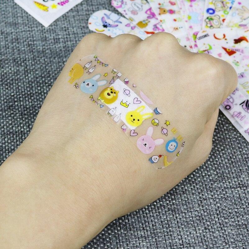 Купить с кэшбэком 2 Sets 240PCS Cartoon Waterproof Bandage Band-Aid Hemostatic Adhesive For Kids Children wound bandage wound bandage band aid