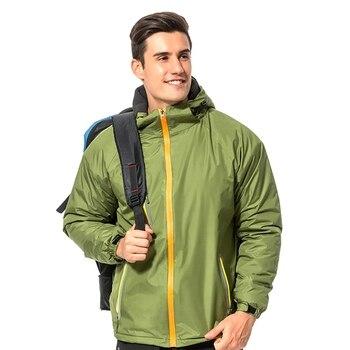 Windproof Hunting Jacket Thick Hooded Detachable Waterproof Fluffy Climbing Hiking Warm Coat Outwear Winter Sportswear C01