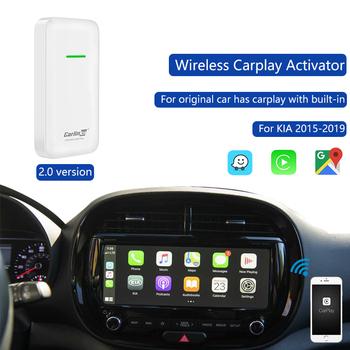 Carlinkit 2 0 wersja bezprzewodowy klucz sprzętowy Carplay Dongle oryginalny samochód ma przewodowy wbudowany Carplay przewodowy do bezprzewodowego apple tanie i dobre opinie QMCARTRADE Black 13*3 6cm CarPlay Wireless dongle 12 v ABS material ultrasonic compression Support Upgrade Google WAZE Maps