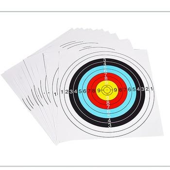 10pcs 60*60 cm/40*40 cm  Archery Shooting Target Paper Bow Hunting Archery Kit Standard Full Ring Single Spot 3