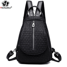 New Fashion Backpack Female Designers Brand Leather for Women Large Shoulder Bag Travel Back Pack Sac A Dos