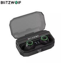 BlitzWolf FYE3S TWS Gerçek Kablosuz Bluetoot 5.0 Kulaklık Dijital Güç Ekran Akıllı Dokunmatik Ikili Çağrı Kulaklık Şarj Kutusu