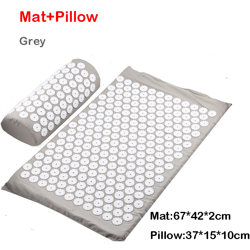 Grey mat pillow