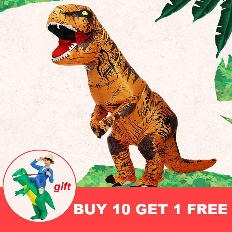 Хит, надувной костюм динозавра T REX, вечерние костюмы для косплея, маскарадный костюм аниме на Хэллоуин для взрослых детей, динозавр из мультфильма|dinosaur costume|costume for ment rex costume | АлиЭкспресс - Костюмы для хэллоуина