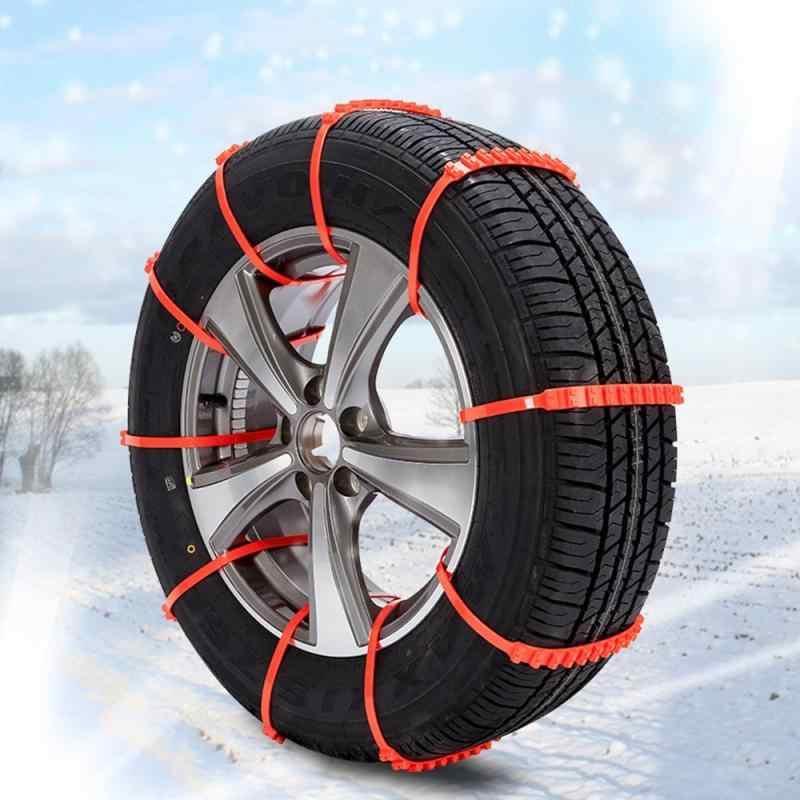 العالمي المضادة للانزلاق تصميم سيارة SUV البلاستيك الشتاء سلاسل من الثلوج دائم سيارة التصميم سلاسل من الثلوج أدوات مفيدة