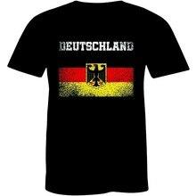 Deutschland Herren Hemd Altdeutsch mit Wappen Schwarz Deutschland männer T-shirt