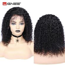 Wignee 13x4 Lace Front Human Hair Wig With Baby For Black/White Women High Density Glueless Short Curly