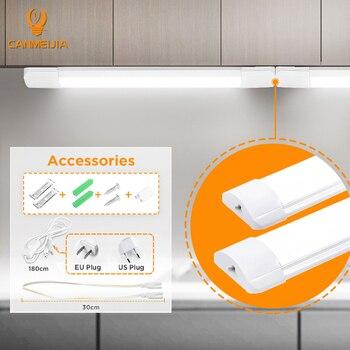 Led Lights For Kitchen 220V 110V Under Cabinet Lights Cabinet Led Closet Light 10/20W 30/50CM Home Wardrobe Bedroom Wall Lamp 1
