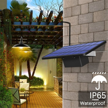 Chandelier Solar Light With Remote Control Retro Lampshade Solar LED Bulb 3Meter Cord Hanging Light for Outdoor Garden Yard Lamp new arrival 22 led solar powered yard outdoor hiking tent light camping hanging lamp with remote control pure white