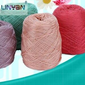 Image 1 - 300グラムイタリア桑シルク糸木綿糸でcrocheライン絹織物デザイナークール夏の氷の絹ニットZL4