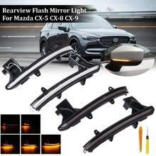 For Mazda CX-5 CX5 KF 2017 2018 CX-8 CX-9 CX9 Dynamic Turn Signal LED Side Rearview Mirror Indicator Sequential Blinker Light 3 in1 special camera wireless receiver mirror monitor diy back up parking system for mazda cx 9 cx9 cx 9 2007 2014