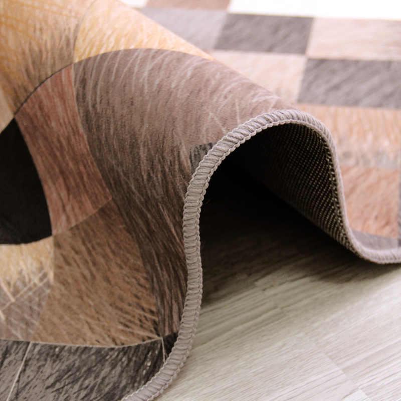 Alfombra de imitación de cuero de vaca estampada para dormitorio moderna alfombra nórdica de piel falsa alfombra grande decoración de sala de estar alfombras para el hogar y alfombra