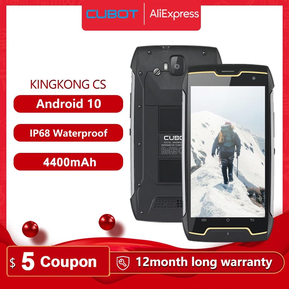 Cubot KingKong CS Android 10 IP68 Waterproof Smartphone 5 Inch 4400mAh Face ID Dual SIM Card Telephone Rugged Phone King Kong